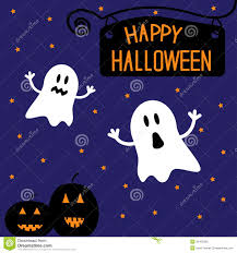 happy halloween funny images two funny halloween ghosts and pumpkins starry ni stock images