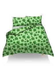 new cannabis marijuana leaf weed duvet cover set cover with free