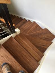 Laminate Floor Stair Nosing Embelton Kakadu Coloured Bamboo Flooring U0026 Finished Off With Solid