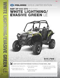 rzr xp 900 eps model r13jt9eaw white lightning evasive green