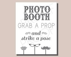 Photo Booth Sign Instant Download Chalkboard Photo Booth Sign Diy Wedding