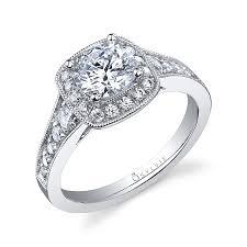 vintage halo engagement rings vintage halo brilliant engagement ring
