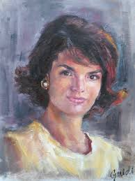 jaqueline kennedy mrs jacqueline kennedy onassis u201d adriana guidi painting from the