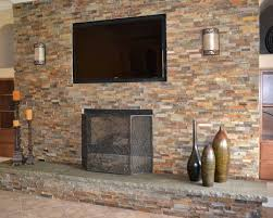 Unique And Beautiful Stone Fireplace by Unique Fireplace With Stone Veneer Cool Gallery Ideas 5454