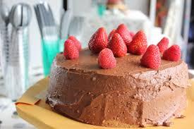 vanilla birthday cake with raspberry filling and chocolate