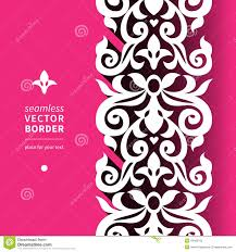 vector victorian ornamental border in flat design style stock