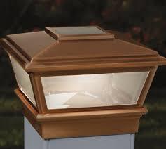 4x4 solar post lights versacap 4x4 high point copper solar post cap