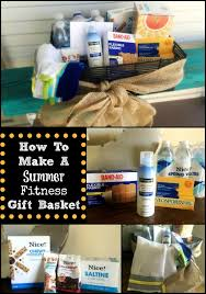 fitness gift basket how to make a summer fitness gift basket half