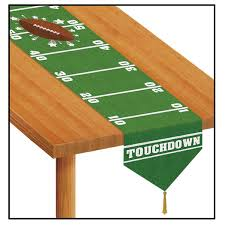 printed day football table runner accessory