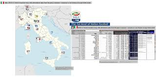 Map Of Pompeii Italy by 2016 17 Serie A Italy 1st Division Location Map With 15 16
