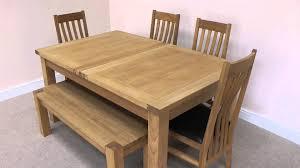 tallinn 1 6m 2 0m butterfly extending european oak dining table