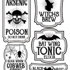 halloween drinks clipart halloween bottle labels free printables potions labels