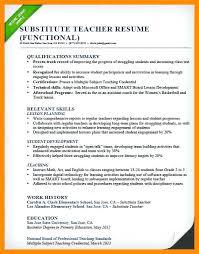 sample new teacher resume substitute teacher resume sample