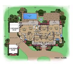 mediterranean house floor plans 5 bedrm 7215 sq ft mediterranean house plan 195 1077