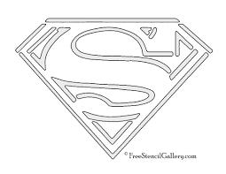 Free Printable Halloween Pumpkin Carving Stencils by Superman Symbol Stencil Comic Book Hero Symbols U0026 Logos