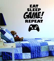 amazon com eat sleep game repeat quote decal sticker wall vinyl