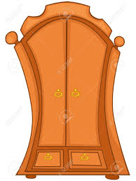 Furniture Closet Cartoon Home Furniture Wardrobe Royalty Free Cliparts Vectors