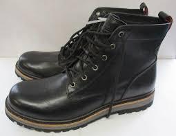 new ugg huntley black waterproof leather sheepskin boots us size