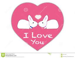 vector showing love concept rabbit cartoons stock