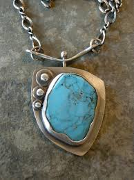 silver turquoise pendant necklace images Turquoise pendant with sterling silver bezel and chain 125 00 jpg