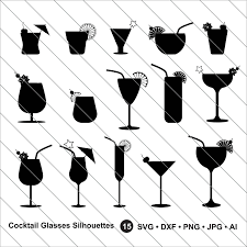 cocktail clipart black and white cocktail glasses silhouettes svg cocktail glasses clipart