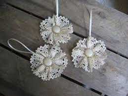 best 25 diy lace ornaments ideas on