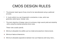 layout design cmos cmos design rule