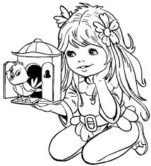 little bird coloring pages for girls free printable coloring pages