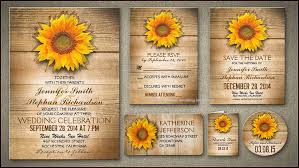 sunflower wedding programs sunflower wedding invitations wedding invitations