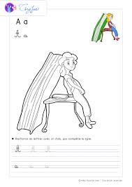 Dessin à Colorier lAlphabet des Enfants  Coloriage PDF