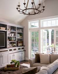 French Country Family Rooms Living Room Traditional With Wall - Country family room