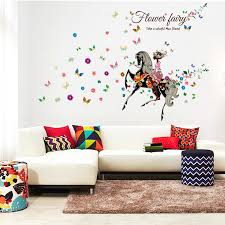 Beautiful Wall Stickers For Room Interior Design Angel Horse Beautiful Flowers Butterfly Diy Wall Stickers