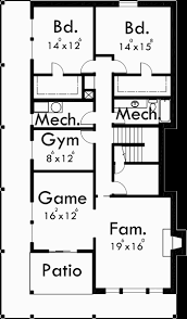 house plans basement side sloping lot house plan walkout basement detached garage
