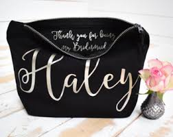 Bridal Party Makeup Bags Personalised Gifts U0026 Wedding Favours By Thepersonalweddingco