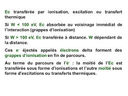 transfert de si e interactions rayonnements matiere ppt télécharger