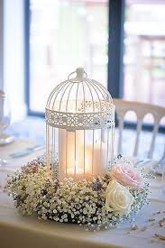 shabby chic wedding decor birdcage centrepieces in home