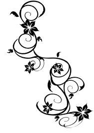 butterfly on rose vine tattoo drawing