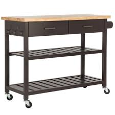 Powell Color Story Black Butcher Block Kitchen Island Butcher Block Cart Plans Full Size Of Steel Kitchen Island