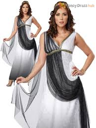 ladies deluxe roman toga costume greek goddess fancy dress womens