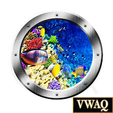 coral reef underwater porthole window ocean life mural decal kids home peel and stick wall decals porthole window wall art decals coral reef underwater porthole window ocean life mural decal kids room sticker wall