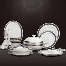 dinnerware sets 28 european luxury white gold inlay porcelain