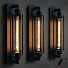 Edison Bulb Wall Sconce Replica Item American Industrial Style Grand Edison Caged Sconce