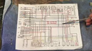 xv750 virago motorcycle wiring explained youtube