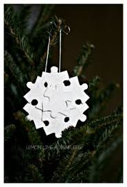 the missing piece recycled puzzle ornaments puzzle pieces