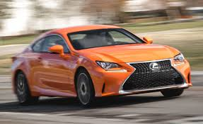 lexus is f sport coupe 2016 lexus rc200t f sport test review car and driver