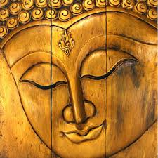Adorable Room Appearance Wall Art Ideas Design Yellow Gold Buddha Face Wall Art Amazing
