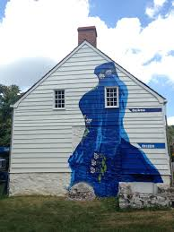 painting murals on a 250 year old farmhouse to preserve it