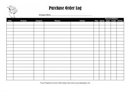 Log Excel Template Purchase Order Log Template Excel Pdf Rtf Word