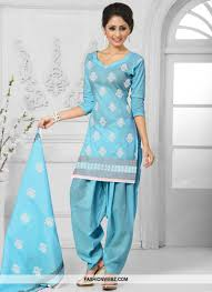 Light Blue Color by Light Blue Color Punjabi Suit