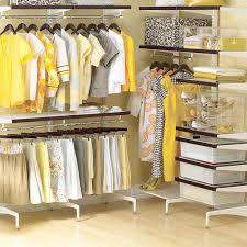 exceptional stand alone closet system walnut u0026 white elfa